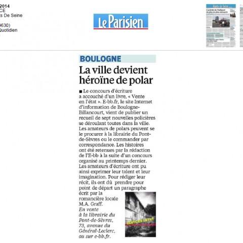 Article Le Parisien : Vente en l'état